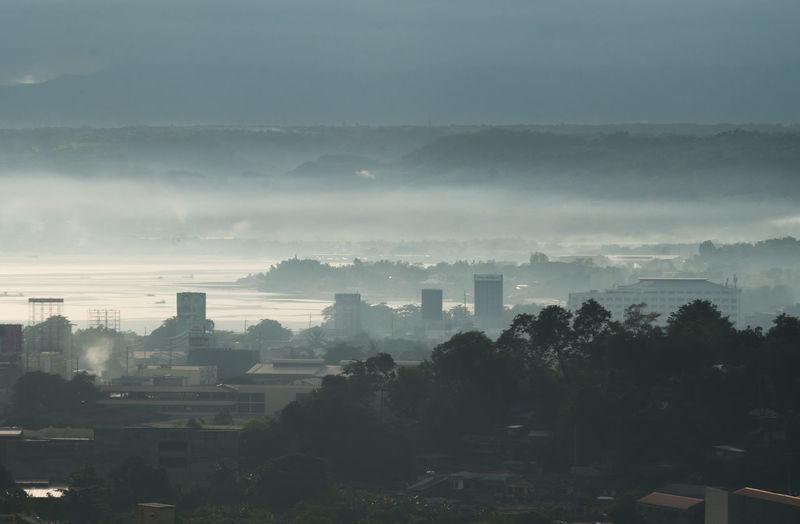 City haze as
