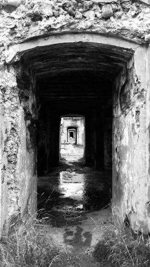 Entrance Arch No People Forts Doorway Portal Abandoned Places Latvia Karosta Liepaja Blackandwhite Blackandwhite Photography The Week On EyeEm