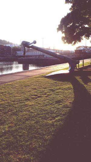 Urban Lifestyle Bristol Harbourside Morning Sunrise Anchor