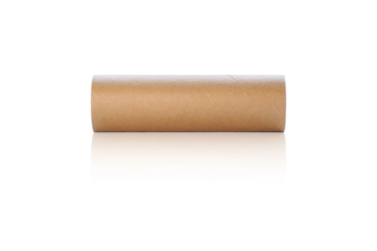 Cylindrical paper box for putting tennis balls or battling balls isolated on white background, with clipping path. White Background Cut Out Copy Space Studio Shot Paper Single Object No People Indoors  White Color Communication Letter Still Life Container Man Made Object Business Emotion Technology Close-up Man Made Message Send Box Isolated Cylinder Empty