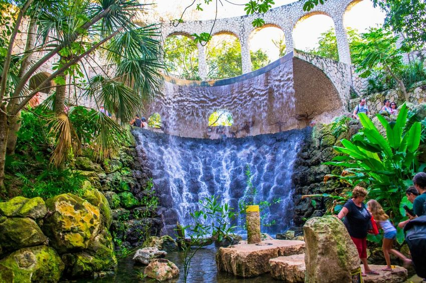 Beautiful Waterfall in Xcaret Mexico Attraction In Mexico Authentic Mexican Food Friendlylocalguides Holidays Jungles Mexico National Landmark Park Pyramid Things To Do Vacations Waterfall What To See In Mexico Where To Go Xcaret