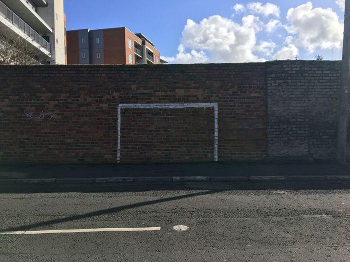 Score Playground Brick Wall Outdoors Building Exterior Football The Street Photographer - 2017 EyeEm Awards