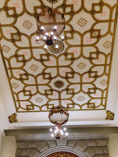 Ornate Lighting Equipment Decoration Design Hanging Elégance Indoors  Architecture Home Interior No People Low Angle View Luxury Built Structure Illuminated Day Shiroikoibito Hokkaido Japan