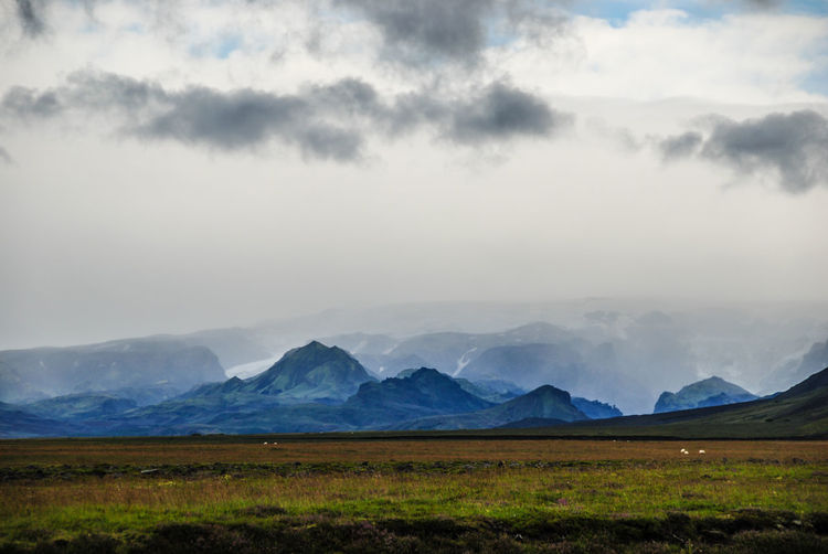 Iceland Beauty In Nature Cloud - Sky Day Landscape Mountain Mountain Range Nature No People Outdoors Scenics Sky
