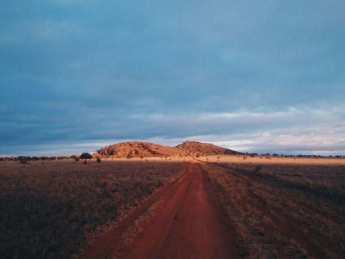 Lions rock, Tsavo, Kenya. The Way Forward Sky Cloud - Sky Nature Landscape Road No People Beauty In Nature Minimalism Adventure EyeEm Best Shots Africa Travel Kenya EyeEm Best Edits VSCO Travel Destinations