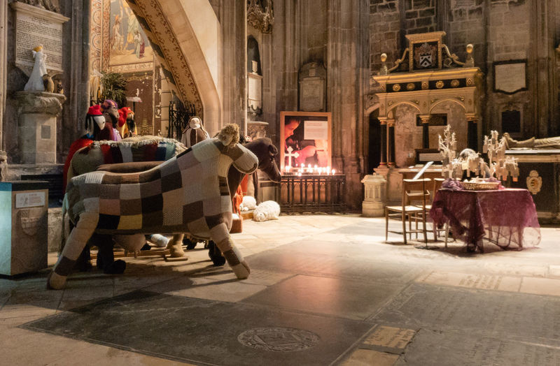 Architecture Nativity Gloucester Cathedral Cathedral Candles