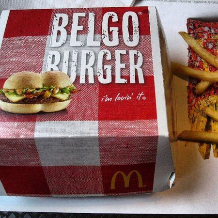 Burger Belgo Belgian  McDo fries mcdonalds