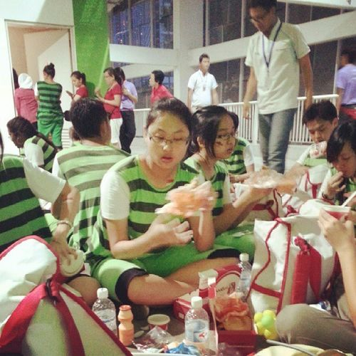 Nom nom...all busy nom nom gor our last act...woah... NDP2013 Ndp13 Ndpeeps NYP Primers