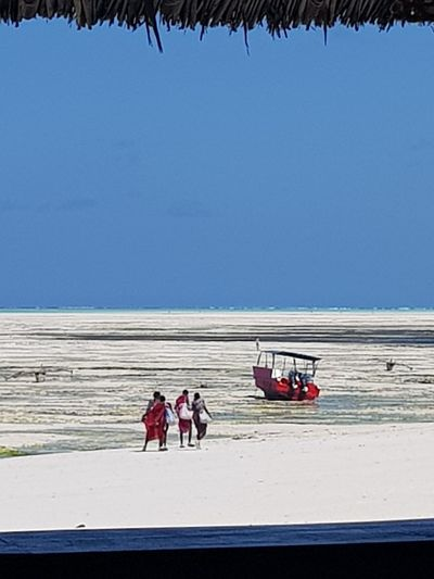 Group Of People Water Sky Transportation Sea Nature Real People Outdoors