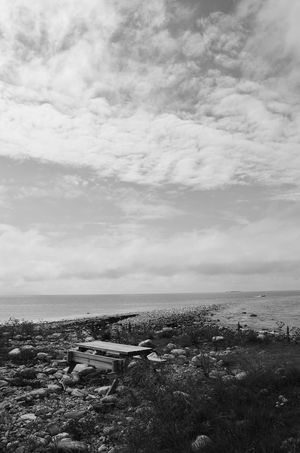 Calm Edge Of The World End Of The Day End Of The World Infinity Norway Out To Sea Peace Peace And Quiet Perfect Place Picnic Quietness Solitude Table Blackandwhite Photography Black And White Photography