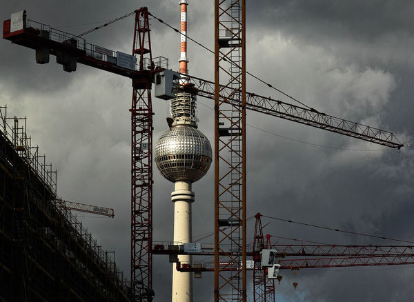 Construction Industry Cloud - Sky Tall - High No People Metal Cranes Tvtower Tvtower #berlin #alexanderplatz Outdoors Day