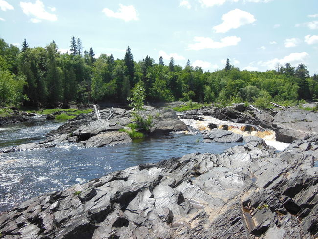 Beauty Flooded Minnesota Nature River River View Riverbank Rocks Stone Trees Water Whirlpool