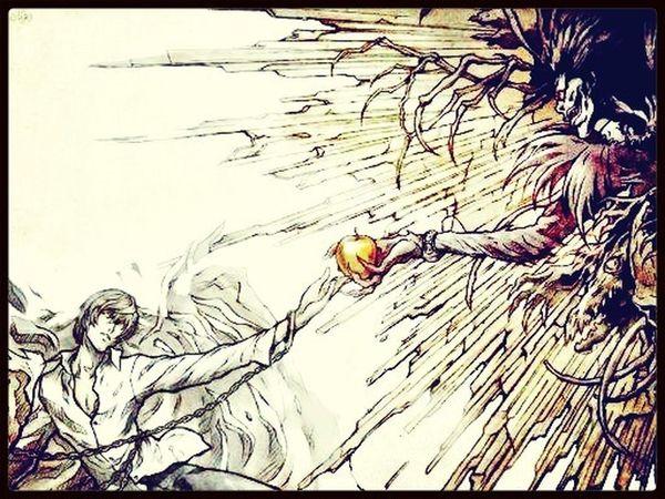 Ryuk : tu sais Light Yagami même si tu n'a pas d'ailes tu est déjà un très bon Shinigami ❤️