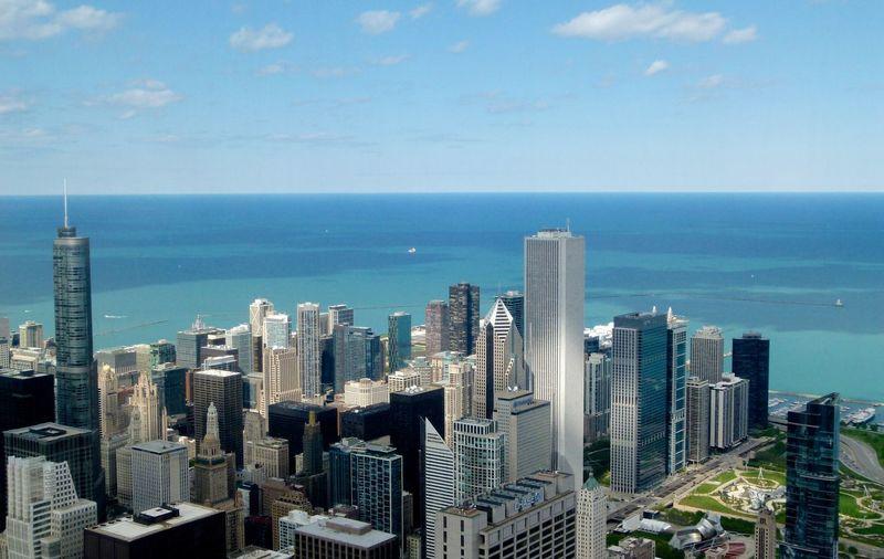 Chicago Willistower Skydeck Lakemichigan Skyline