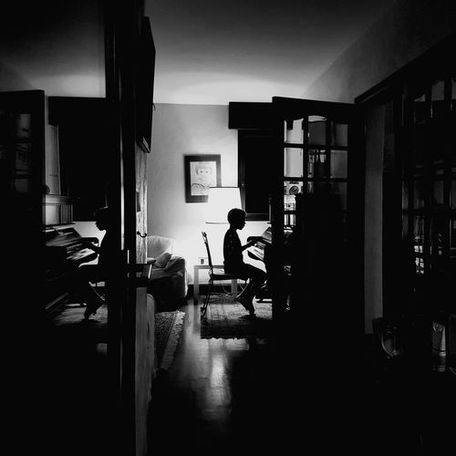 Blackandwhite Little Pianist Piano Moments House Interiors  Black & White Light And Shadow Indoors