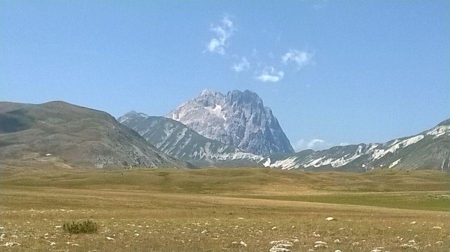 Corno Grande del Gran Sasso D'Italia sull'altopiano di Campo Imperatore a Santo Stefano Di Sessanio L'Aquila Abruzzo Italia