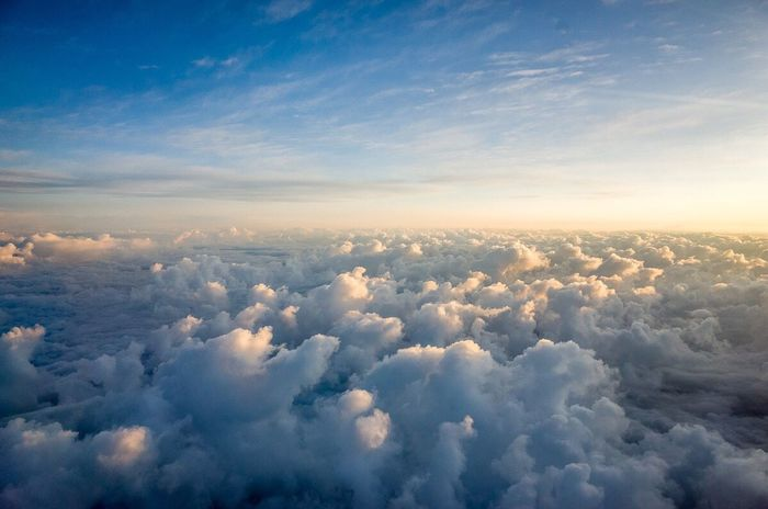 Clouds And Sky Clouds Blue White Fluffy