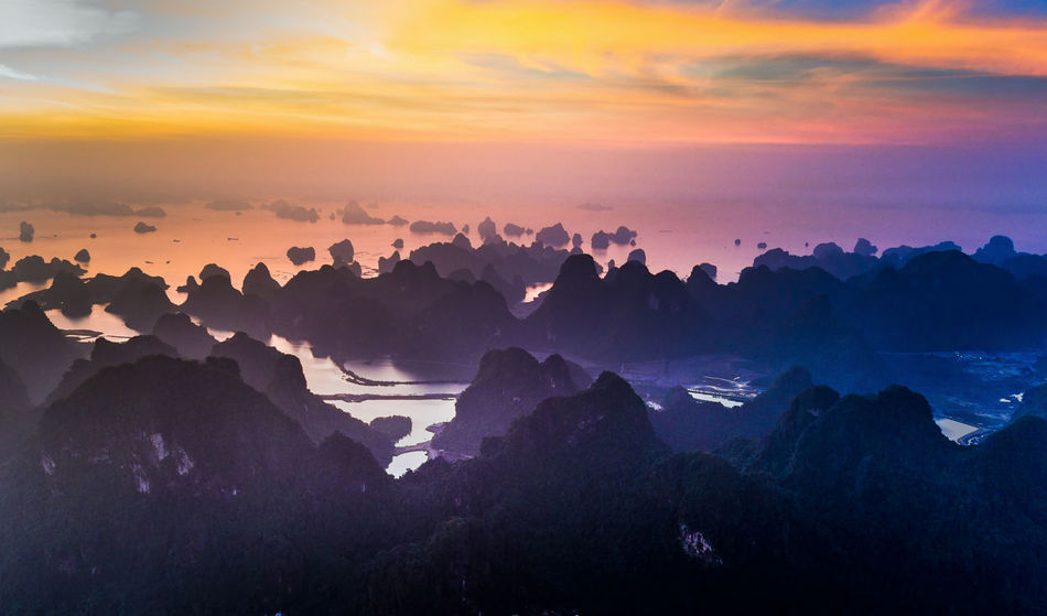 Bai Tu Long Bay Drone  Morning Morning Light Drone Photography Dronephotography Ha Long Bay Island Landscape Sunrise