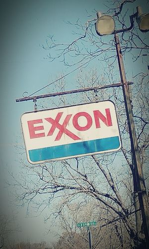 Signs Signs Everywhere Signs Faded Color Old Signs Roadsidephotography Exxon ExxonMobil Exxon Valdez Oil Big Oil. Money Rules The World Metal Sign Antique Signs Vintage Advertising
