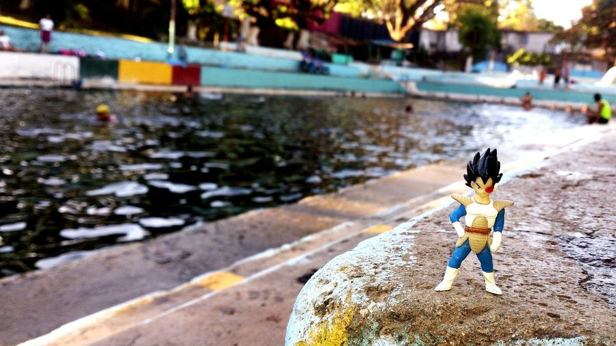 Vegeta en Apanteos, Santa Ana, El Salvador. . Dragonballz Vegeta Swimming Swimming Pool