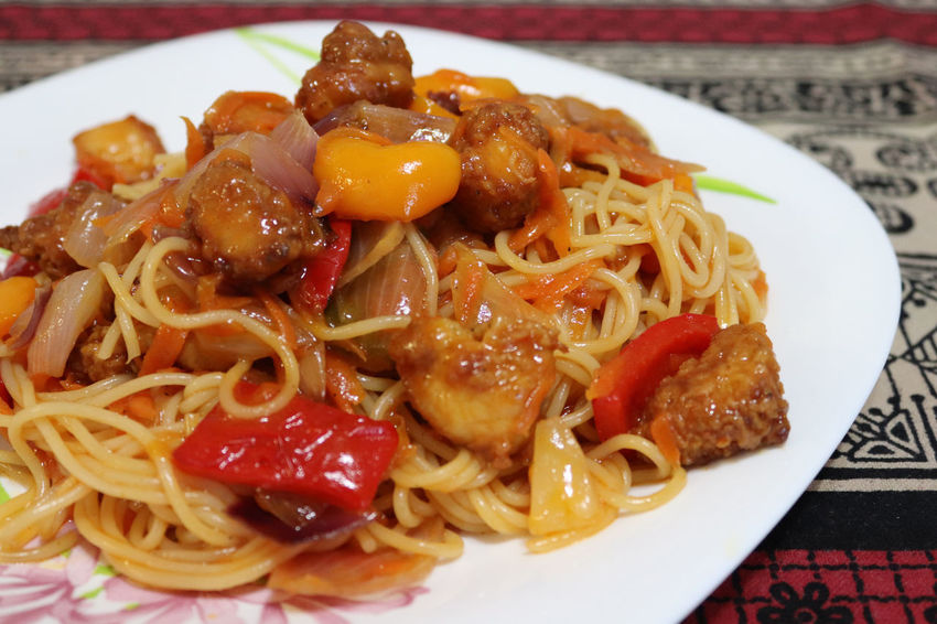 Chinese food, chicken Sweet and sour all step how to make chicken sweet and sour Chinese Food Cooking At Home Cooking A Meal Dinner Time Lunch Red Pepper Chilli Yellow Pepper Yelow Boiled Boiled Pasta Carrot Chicken Sweet And Sour Colorful Cooking Pan Food Green Pepper Onion Orange Color Pasta Pineapple Fruit Sweet And Sour Vegtables