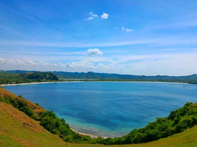 """A Bird's Eye View """"Blue"""" Lake Blue Water Sky Sky Beauty In NatureNon-urban Scene Nature Travel Destinations Mountain Tourism Day Cloud - Sky Vacations Outdoors Summer INDONESIA Lombokisland Indonesia_photography Outdoor Life Naturallovers"""