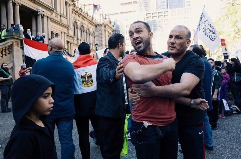 Egyptian pro-Morsi protest, 18 August 2013.