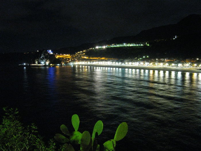Cities At Night City Landscape Night Night City Life Scilla Calabria Italy