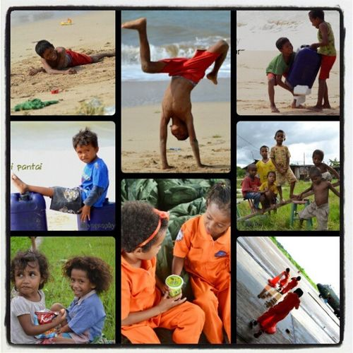 When the children enjoy their life.........Child Cutes Kiddy Beach KupangNTTXtraordinarynoya