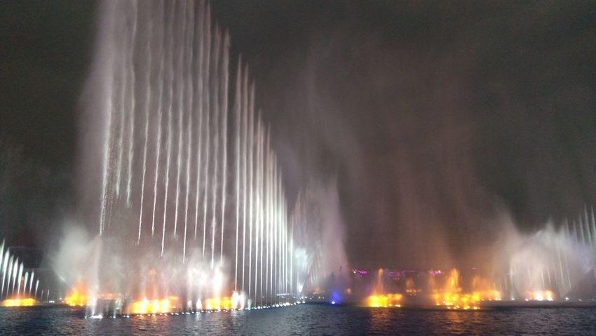 Water Night Fountain Show Okada