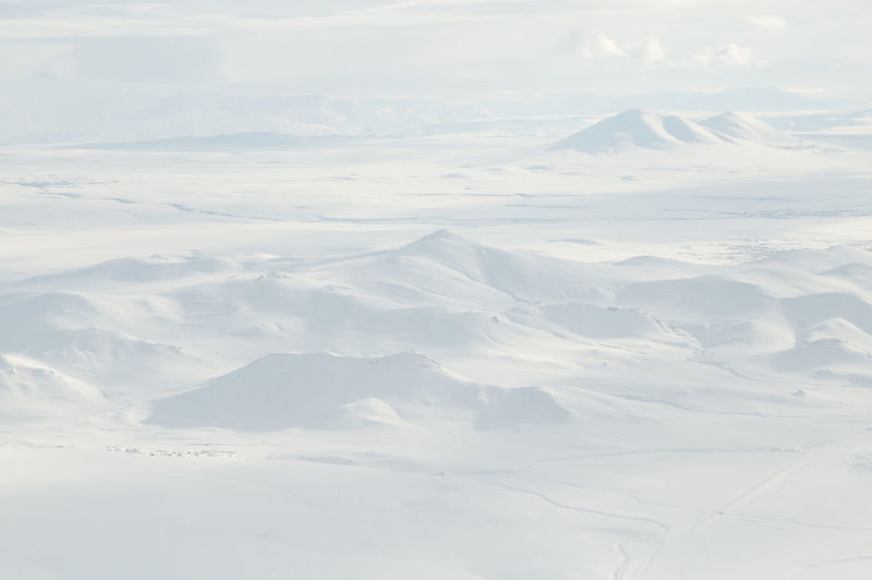 view of the Kaçkar mountains from a plane Aerial Beauty In Nature Cold Temperature Day From Plane Landscape Mountain Mountains Nature No People Outdoors Patterns Scenics Sky Snow Tranquil Scene Tranquility Turkey White Color Winter Winter