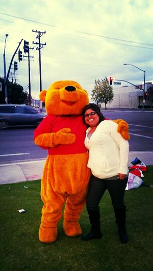 with my favorite character! Pooh Bear! :)