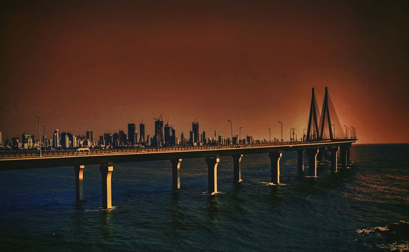 An artistic view of mumbai sea link bridge. Mumbai Sealink Worli Travel Destinations BandraFort Hillgarden Mobile Photography Redmi3s SelfEDITED Beautiful Bandstand Architecture Urban Skyline Megacities Sunset Outdoors Indianocean Incredible India follow #f4f #followme #TagsForLikes #TFLers #followforfollow #follow4follow #teamfollowback #followher followbackteam followh Art Is Everywhere