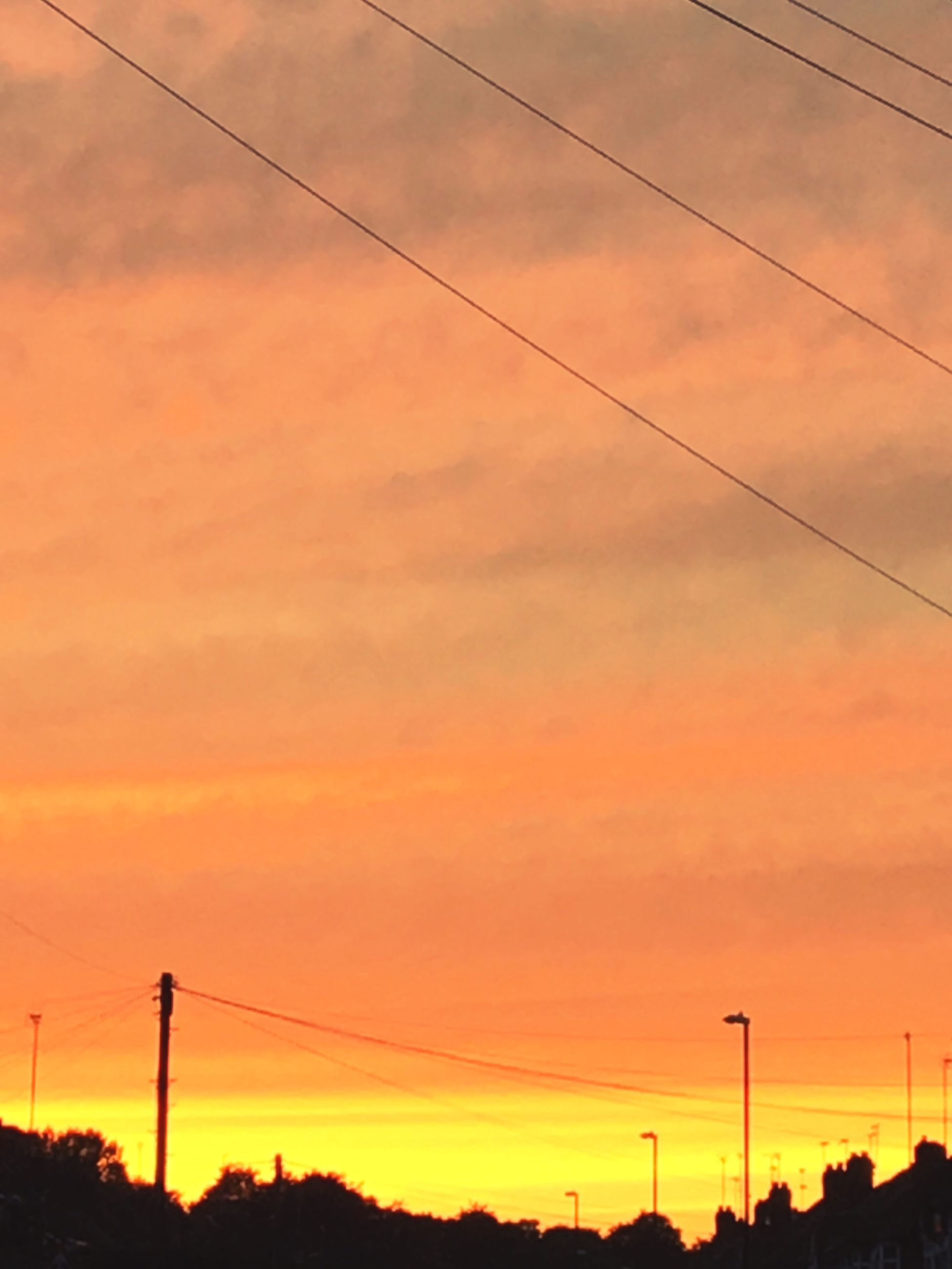 sunset, cable, power line, orange color, silhouette, power supply, electricity pylon, connection, electricity, fuel and power generation, telephone line, no people, nature, sky, cloud - sky, technology, outdoors, beauty in nature, scenics, day