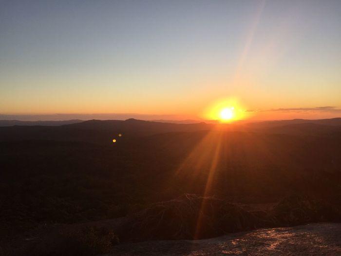 Sunset over Bald Rock Australia Roadtrip Adventure