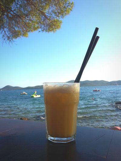 Liquid Lunch Summer Croatia Biograd Beach Cocktail Piña Colada Enjoying Life Summertime Beachbar