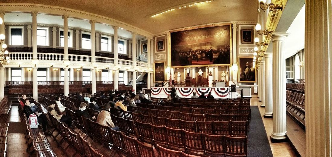 The Great Hall... don't forget to visit the 3rd floor at Faneuil Hall. GreatHall Faneuil Hall Boston