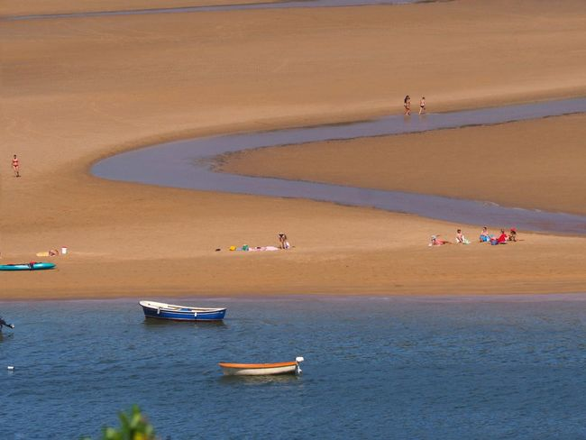 Urdaibai Water Land Sea Nautical Vessel Beach Transportation Sand Travel Nature Scenics - Nature Mode Of Transportation Beauty In Nature Trip Travel Destinations Tourism Vacations Holiday Outdoors
