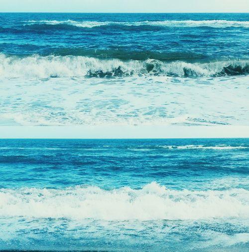 Sea Blue Waves Foam