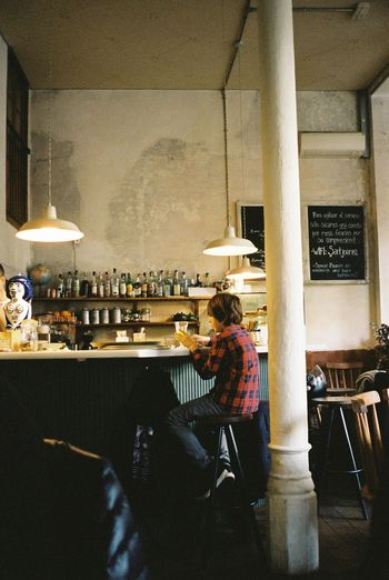 Kodak Portra Film 35mm Film Barcelona Cafe Everyday Lives Relaxing People Watching