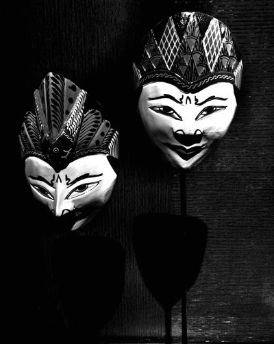 Just tell the truth.... Mask Blackandwhite Black & White Monochrome INDONESIA Culture Iphonesia Wall Art