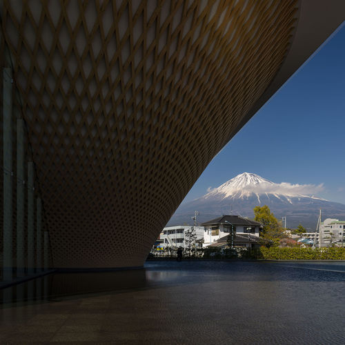 Mt. Fuji World Heritage Centre, Shizuoka, Japan World Water Volcano View Vacations Urban Travel Tourist Tourism Snow Cap Snow Sky Shizuoka Museum MT Mountain Mount Modern Learning Landscape Landmark Japanese  Japan Information History Historic Heritage Fuji Famous Exterior Educational Destinations Design Cityscape City Centre Building Blue Attractions Asian  ASIA Architecture