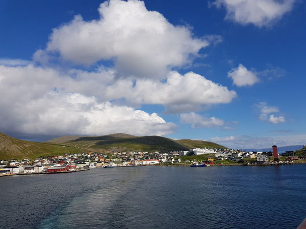 Honningsvag Norway Architecture Bay Beauty In Nature Building Building Exterior Built Structure City Cityscape Cloud - Sky Day Mountain Nature Nautical Vessel No People North Cape Outdoors Scenics - Nature Sea Sky Transportation Water Waterfront