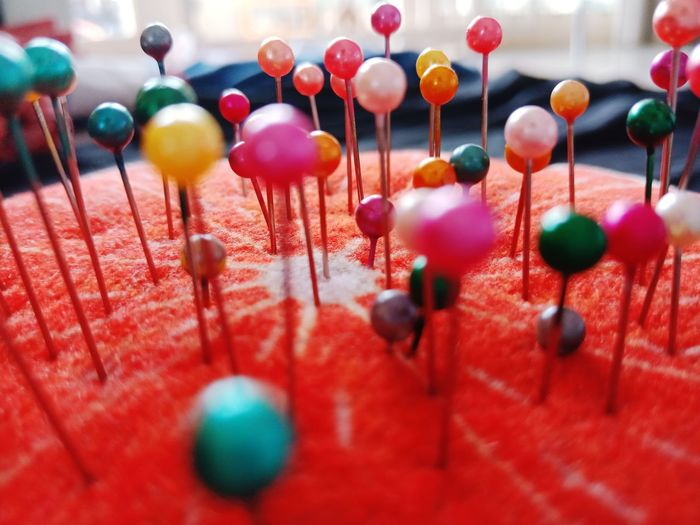 Pin Sewing Sewing Item EyeEm Selects Multi Colored Chinese New Year Red Hanging Celebration Balloon City Holiday - Event Cultures Variation