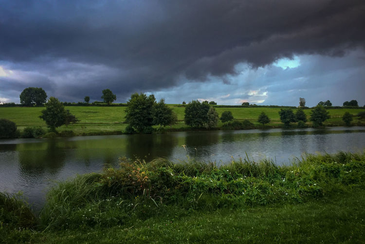 French Landscape Beauty In Nature Cloud - Sky Day Grass Green Color Growth Lake Land Nature No People Non-urban Scene Outdoors Plant Scenics - Nature Sky Tranquil Scene Tranquility Tree Water