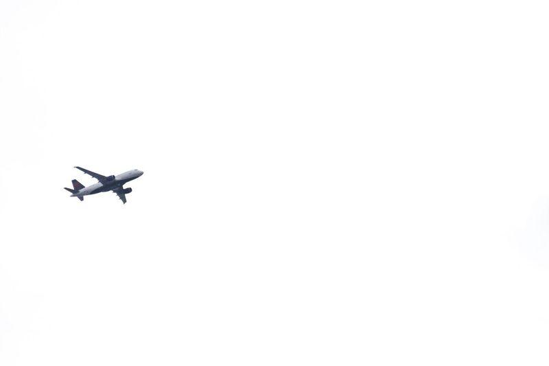 Airplane Transportation Travel Flying Journey Sky Day New York Low Angle View New York City Nikon Nikonphotography