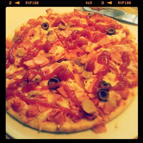 Pizza na obiad zawsze spoko Romantyczna Pizza Mrozona Dinner instafood perfect mniam