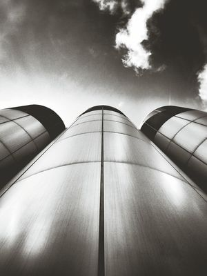 Partly Cloudy & Cylindrical Andrographer Blackandwhite Abstractarchitecture Architecture