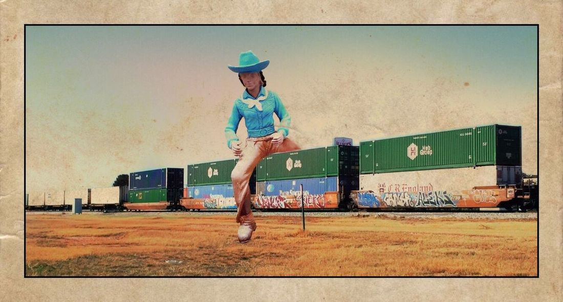 Mobile Photography Train Cowboy IPhoneography
