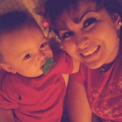 aww look who's hanging out with tita <3